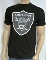 Ambiguous Blublocker Nation Raiders Graphic Tee Black Crew T-shirt Mens