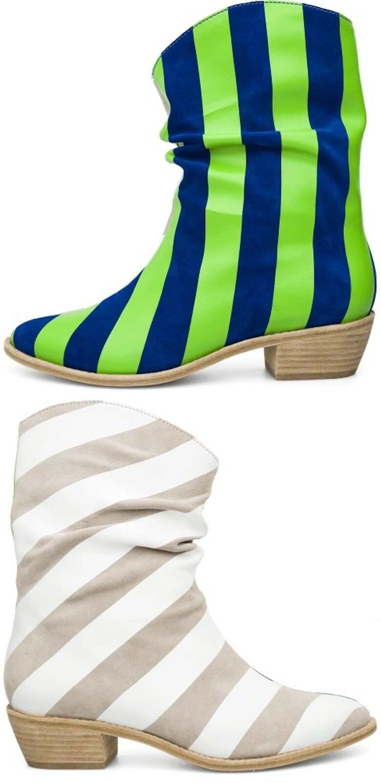 $320 Bernhard Willhelm X Camper US 7 Together Twins Ankle Boots 46721-001