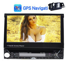 "7"" HD Single 1Din GPS Nav Auto Car DVD Player Stereo BT RDS Radio+Parking Camera"