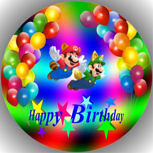 Oblate Super Mario P17 Tortenaufleger Geburtstag Party Tortenbild Fondant