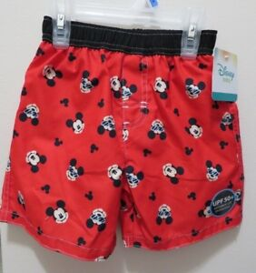 Disney Mickey Mouse Toddler Boy Bathing Suit Bottoms size 24 Months & 3T NWT