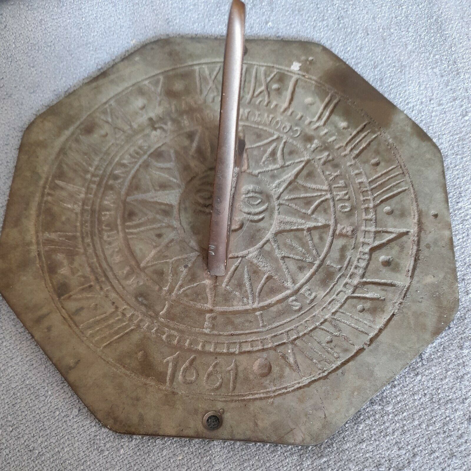 Vintage Cast Metal Sundial
