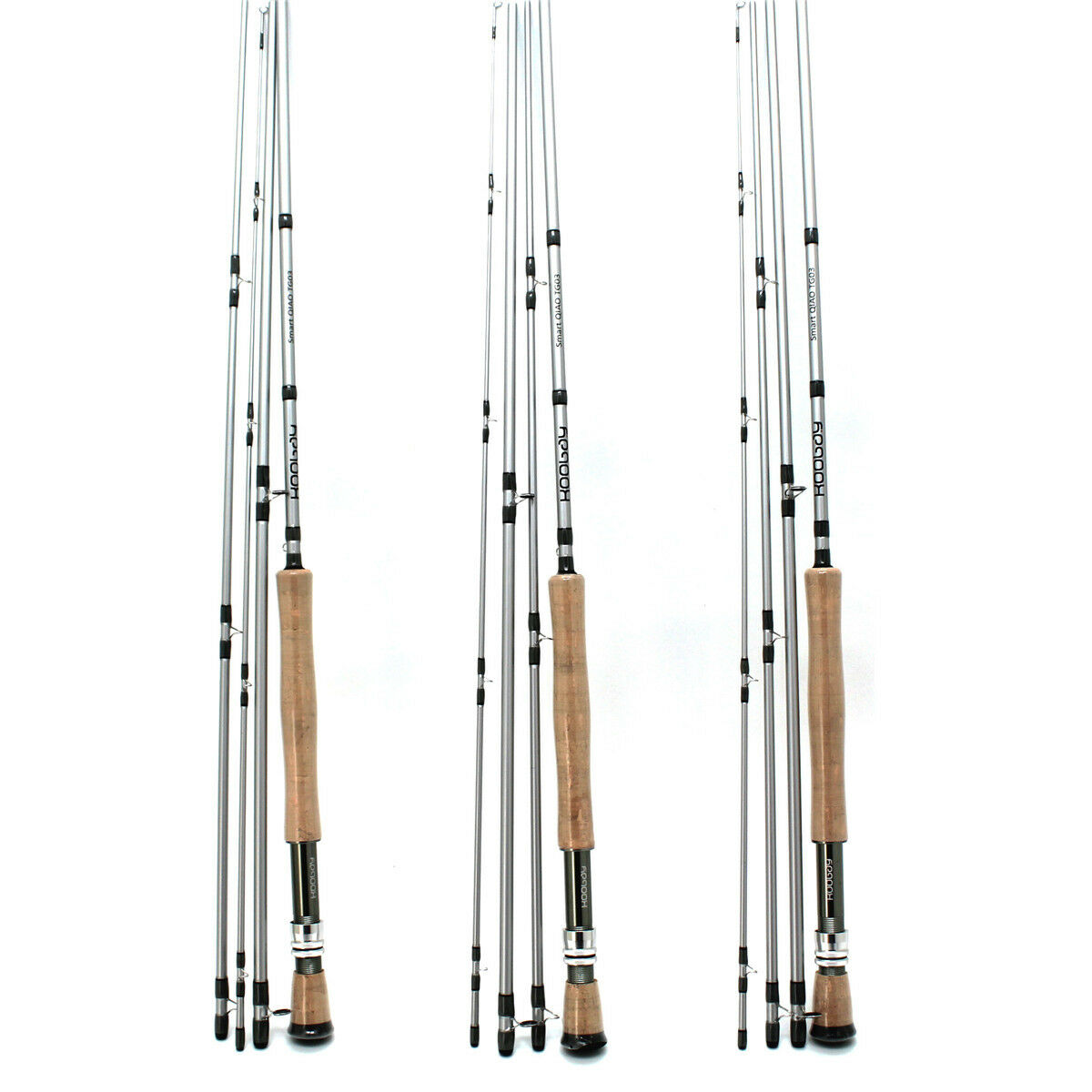 4Pcs Fly Fishing  Rods Fast Action Carbon Fiber Light Crappie Bass Travel Poles  fashion brands