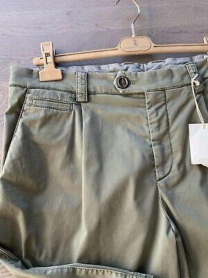 Volitivo Brunello Cucinelli Bermuda Short Cargo Chino Gabardine Pantaloni Corti Pants 50 L-mostra Il Titolo Originale Modellazione Duratura