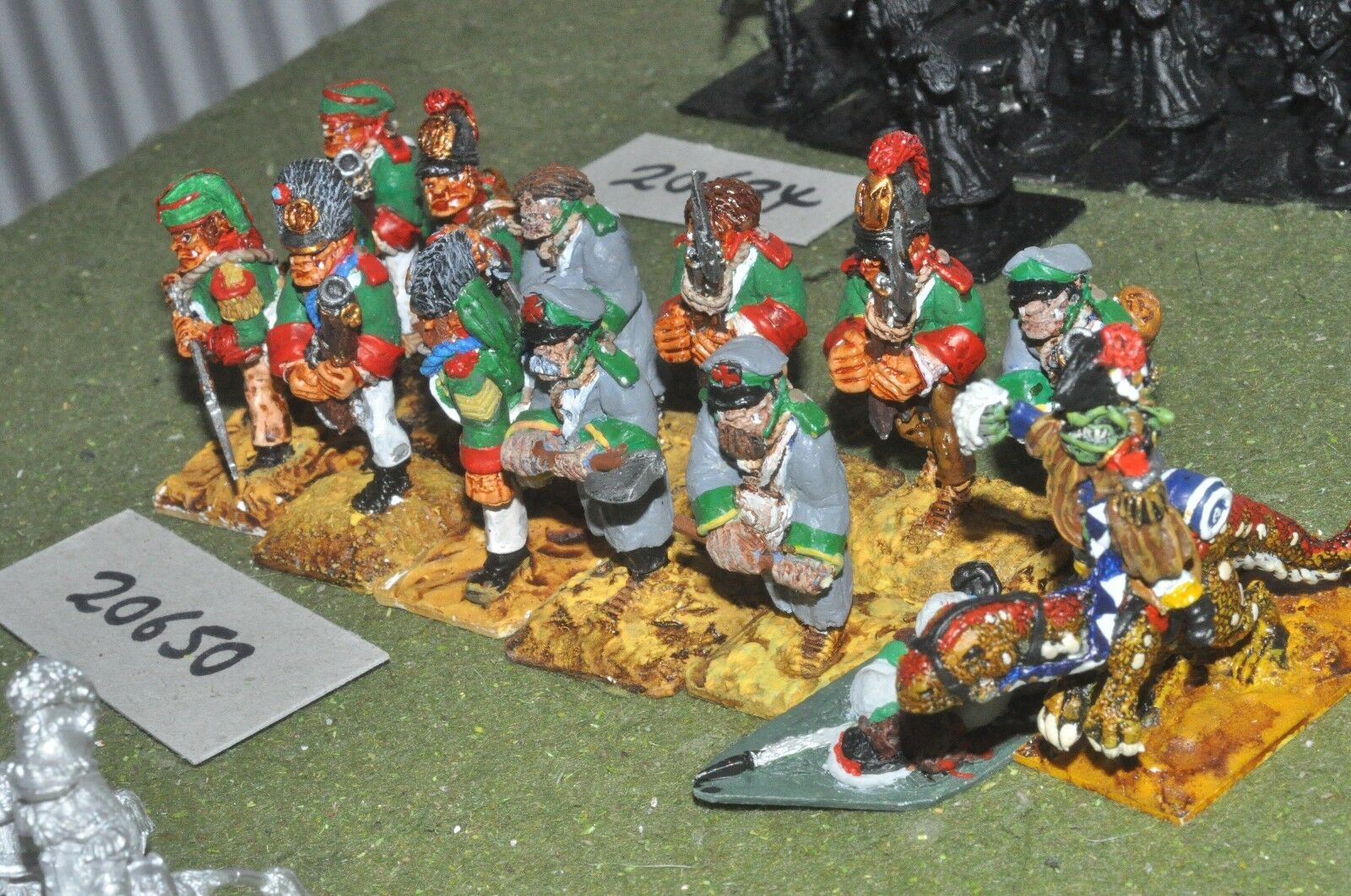 28mm flintloque ogre infantry 12 figures (as photo) {16} (20650)