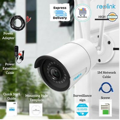 Reolink RLC-410W Security Camera Ip Wireless Wifi Surveillance Outdoor 4Mp  5Mp | eBay