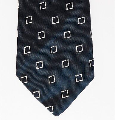 1960s vintage Jermyn St silk tie Hilditch & Key Merryweather navy blue English