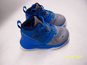 size 40 3689a 99d77 Details about Under Armour Stephen Curry Blue Sneakers Brand New Kids  Toddlers 4K,7K