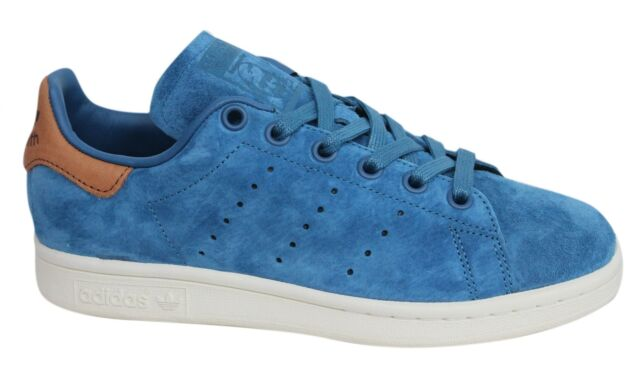 bd1932823534 Adidas Originals Stan Smith Lace Up Blue Brown Leather Mens Trainers BB0043  U28