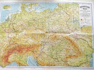 La Germania Cartina Geografica.Dettagli Su Cartina Geografica Storico Carta Scolastica Immagine Animale Grande Germania
