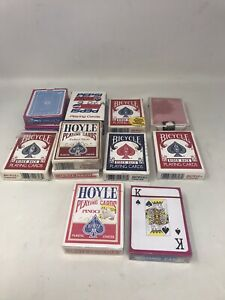 13-Vintage-Playing-Card-Decks-Hoyle-Pepsi-Bicycle-Pinochle-Poker-2-Decks-Are-New