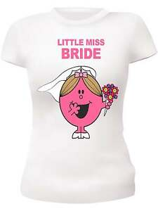 LITTLE MISS BRIDE TO BE HEN PARTY T-SHIRTS HEN NIGHT T-SHIRTS HEN VEST TOPS HENS