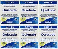 6 Pack Boiron Quietude Natural Sleep Aid Sleeping Pills 60 Dissolving Tablets Ea on sale
