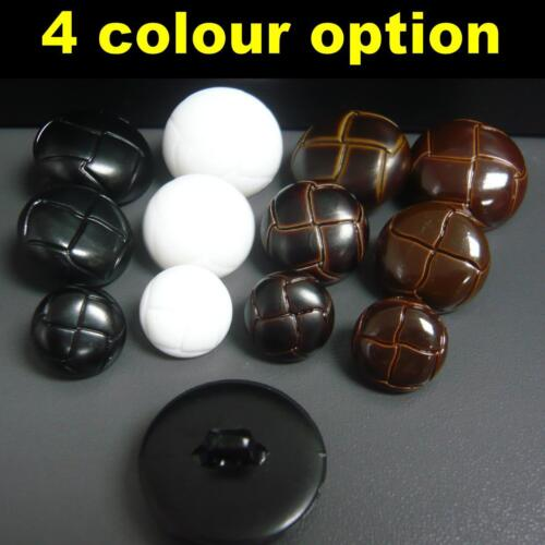 10//30//100x Football Coat Jacket Plastic buttons shank on back 15mm//20mm//25mm
