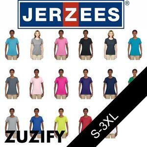 JERZEES-Ladies-Heavyweight-50-50-T-Shirt-29WR