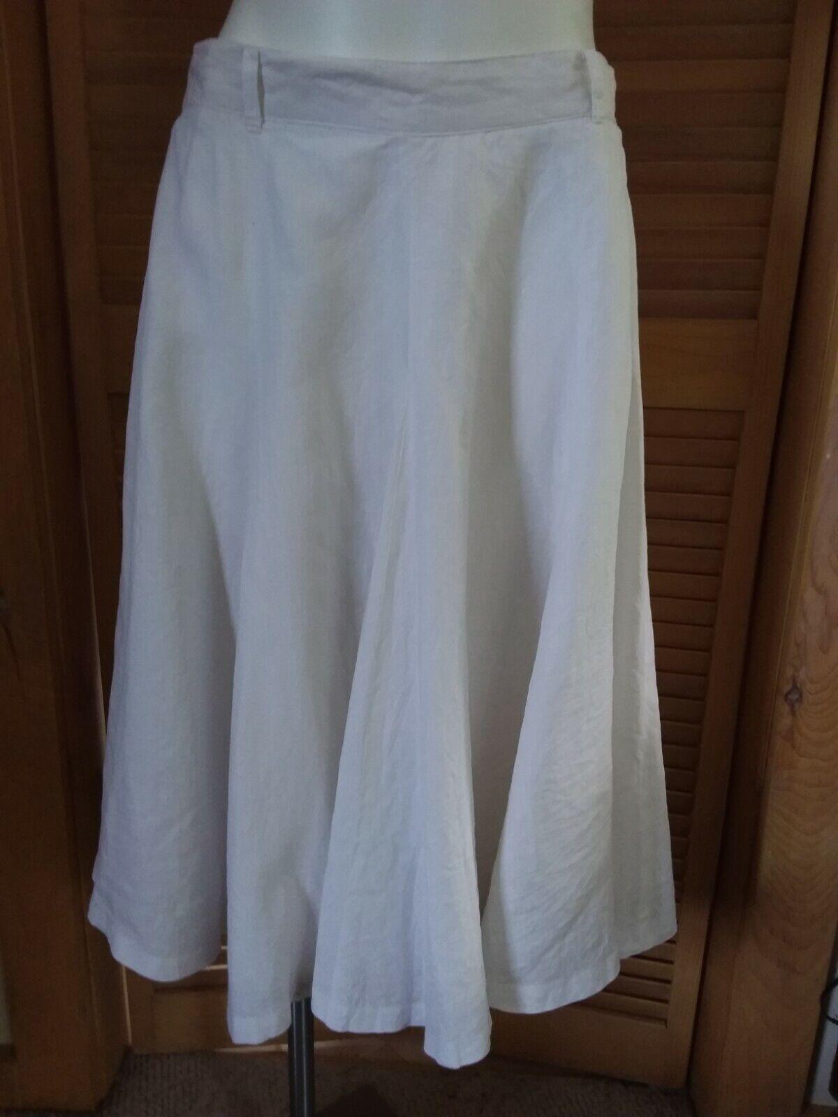 VTG ESCADA Margaretha Ley Full Lined Below Knee SKIRT Pure White Linen 32