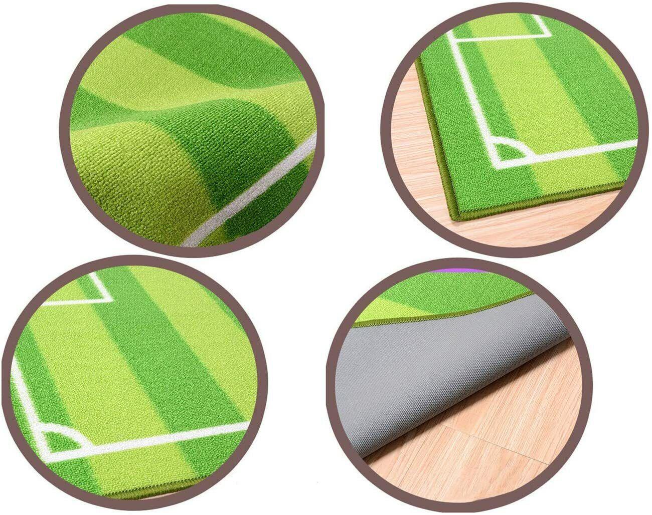 Play Mat for Boys G FUNS Soccer Field Kids Play Area Rug Football Field Carpet