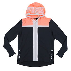 3a1c97dba Details about Victoria's Secret Pink Hoodie Full Zip Athletic Sweatshirt  Graphic Logo Gym New