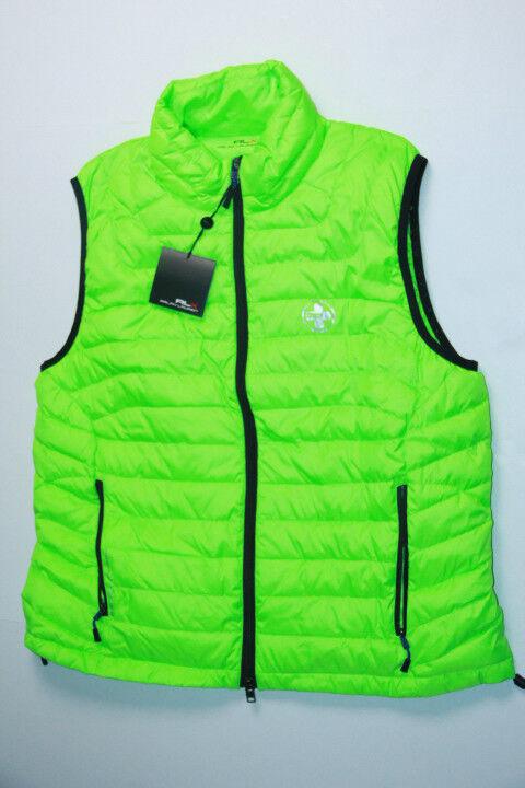 New  Ralph Lauren RLX Logo Down Bright Vest men XL
