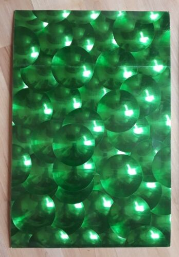 2 X A4 SELF ADHESIVE HOLOGRAPHIC STICKER SHEETS GREEN