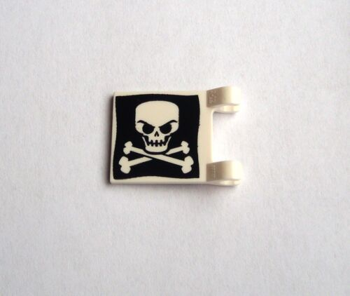 Lego 2x Fahne mit Totenkopf Knochen 2x2 Neu Piratenflagge Flag Skull Crossbones