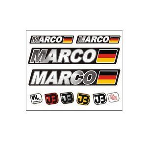 Marco-voiture-velo-moto-kart-Casque-fahrername-autocollant-sticker-drapeau