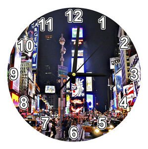 New York Times Square 18cm Glass Wall Clock Brand New