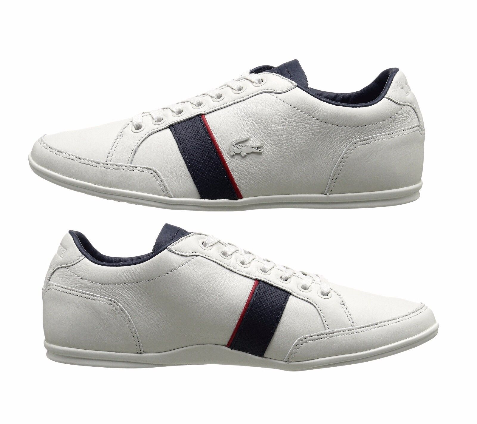 New Lacoste Men Alisos 116 White Leather Lace up casual Fashion shoes Sneakers