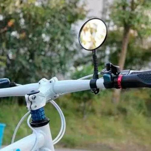 Black Bike Handlebar Rearview Flexible Motorcycle Looking Glass Bicycle Mirror T