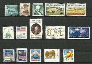 USA-lote-de-15-sellos-nuevos-MNH