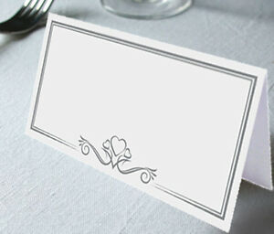 X Heart Logo Wedding Table White Name Place Cards Restaurant - Restaurant table cards