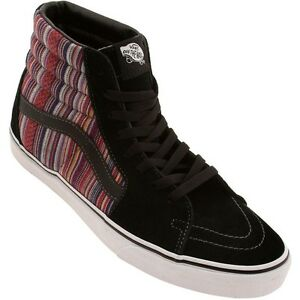 5c4515b930 Vans SK8 Hi Guate Weave Black Multi Men s Classic Skate Shoes MENS ...