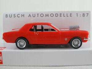 Busch-47575-Ford-Mustang-Coupe-1964-034-Muscle-car-034-en-rojo-1-87-h0-nuevo-en-el-embalaje-original