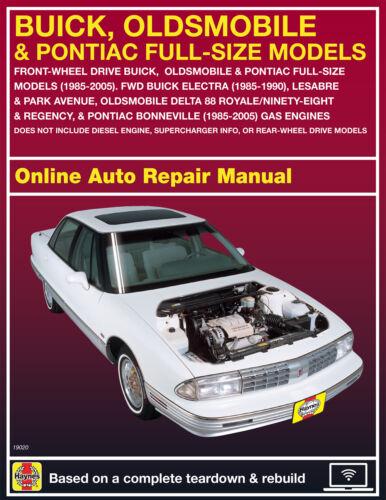 1989 Oldsmobile Delta 88 Haynes Online Repair Manual-Select Access