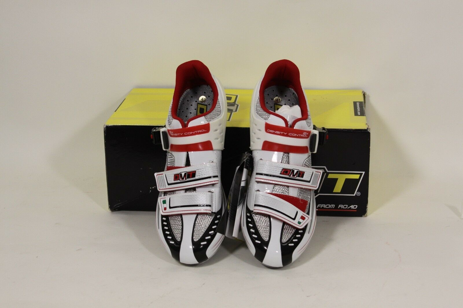 DMT Impact Men's Carbon Road Cycling shoes Wht Sil Rd Eu 41 or US 8