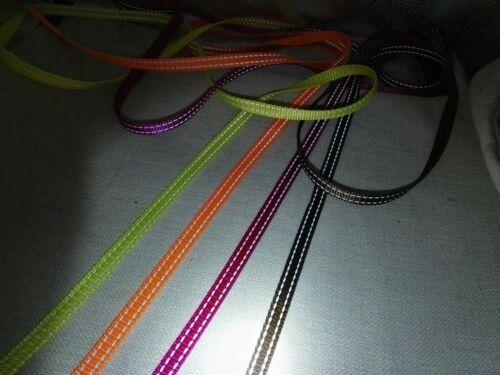 10mm 20 Yards- Reflective Nylon Webbing 3//8/'/' -4 colors