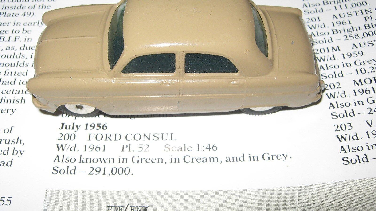 CORGI 200 FORD CONSUL eccellente originale auto e molto bene INDOSSATO SCATOLA ORIGINALE