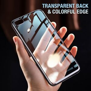 For-Apple-iPhone-X-8-7-Plus-Ultra-Thin-Transparent-Clear-Shockproof-Bumper-Case