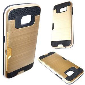 a0701411a574a6 Coque Etui Housse Hybride AntiChoc Porte Carte Gold pour SAMSUNG ...