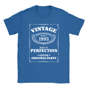 Aged To Perfection 1993 Mens T-Shirt 26th Birthday 26 Years Old Gift Top