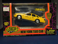 1996 Road Champs York City Taxi Cab Diecast Metal & Plastic 1/43 Scale