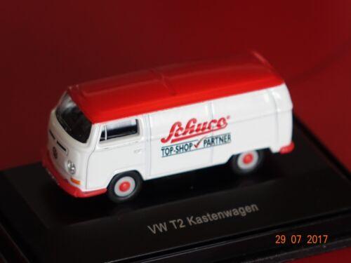 VW t2a CASSETTA stampati con MODELLO-AUTO-SHOP U OVP Schuco 1:87 Schuco NUOVO