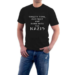 Tinkety Tonk Old Fruit and Down With the Nazis T-shirt Politics Anti-Facist Tee