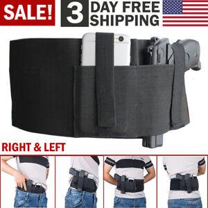 Tactical Belly Band Holster Concealed Carry Gun Waist Belt Pistol Holder Pouch