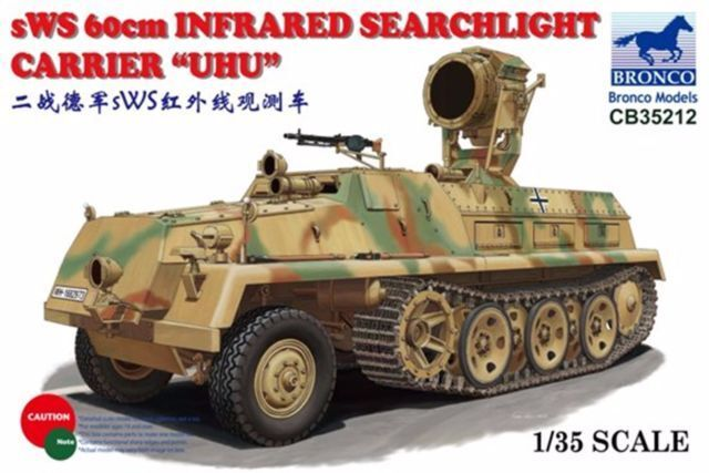 Bronco 1 35 sWS 60cm Infared Searchlight Carrier UHU New