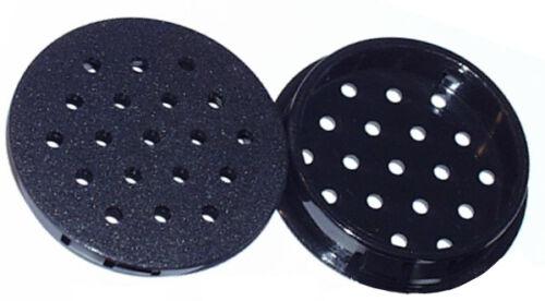 8 Lüftungs,-Ablaufstopfen 50mm schwarz 3,2mm Löcher