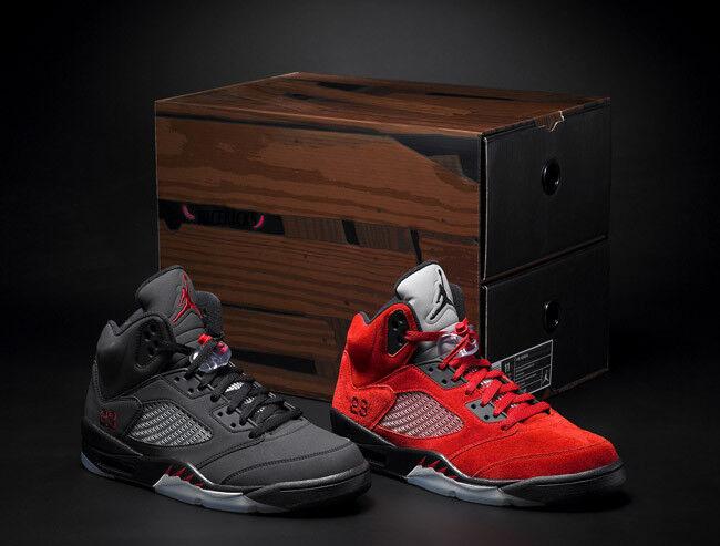 DS Supreme Nike Air Jordan 5 Retro Raging Bull Size 9 Suede 3m Kaws Plaza FW17