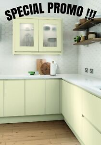 Details About Lucente Matt Cream Complete Kitchen Cabinets Package Offer New