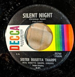 SISTER-ROSETTA-THARPE-45-WHITE-CHRISTMAS-SILENT-NIGHT-Decca-25760
