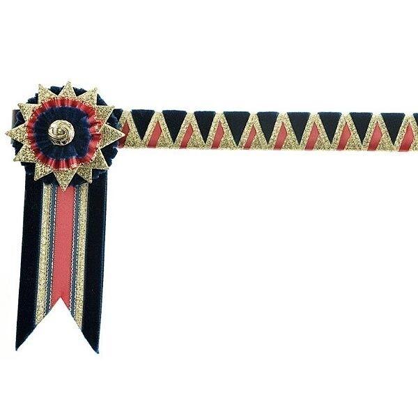 ShowQuest HOYS standard Showing browband + buttonhole ROT/gold/navy Blau Blau ROT/gold/navy 05b830